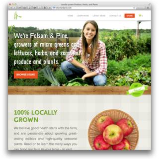 Custom theme for farm shares company. http://folsomandpine.com