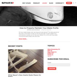 EYEMAGINE - Ecommerce Designer / Developer - www.sparxhockey.com