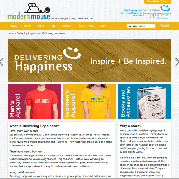 Delivering Happiness E-Commerce Site