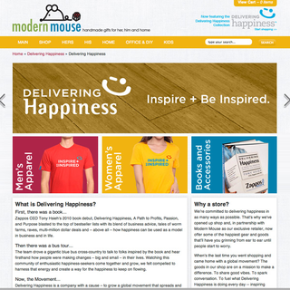 Mazzarello Media and Arts - Ecommerce Designer / Developer - Delivering Happiness E-Commerce Site