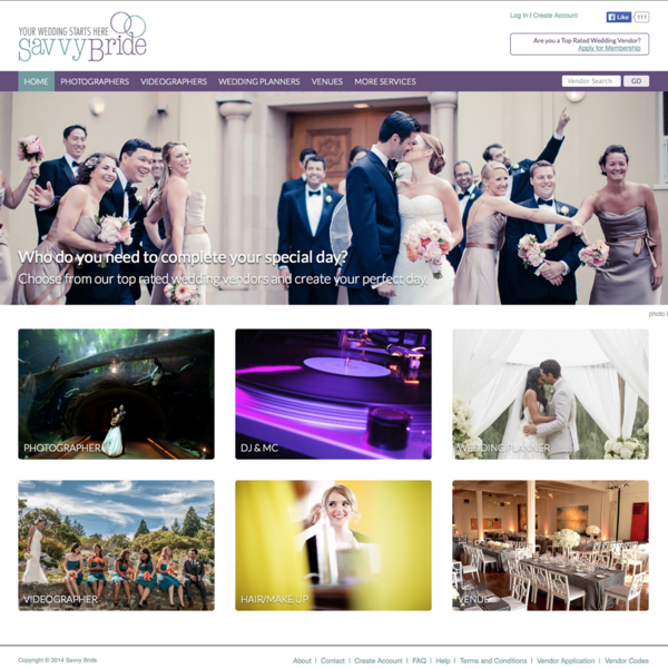 Wedding Vendor E-Commerce Site