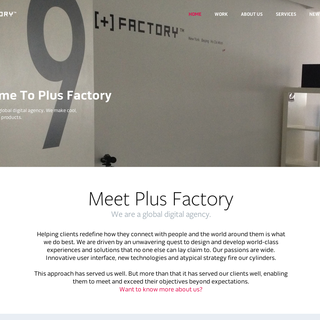 Plus Factory Website