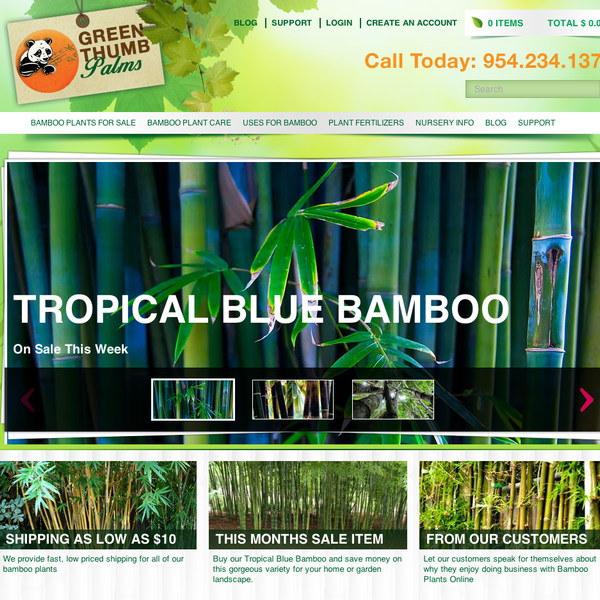 Bamboo Nursery Website