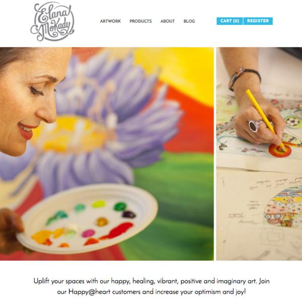 Elana Mokady Art - Branding, Interactive Design, eCommerce