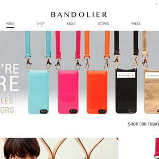 Bandolierstyle.com custom responsive cell phone case storefront.