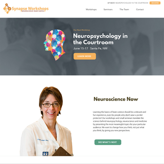 An event registration site for professional neuroscience workshops