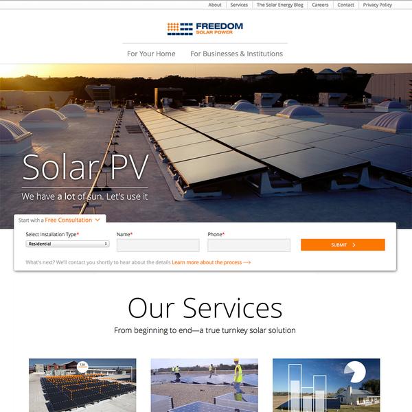 A custom experience for Austin's premiere solar installer