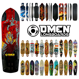 Omen Skateboards - Longboard Skateboard Deck Photography