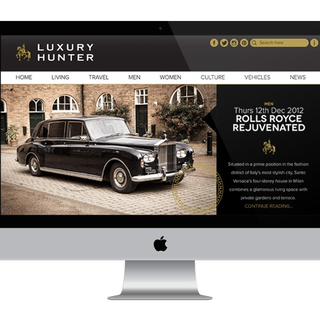 Responsive website / logo - luxuryhunter.co.uk