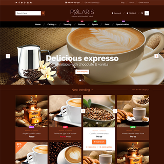 Polaris Coffee Shopify theme