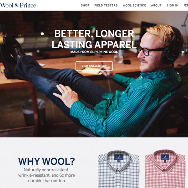 Wool & Prince - bespoke theme