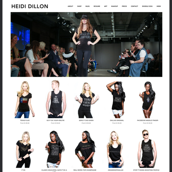 website + photography for www.heididillon.com
