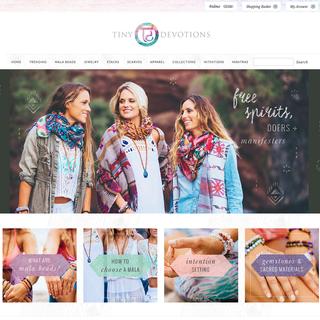 Curious Themes - Ecommerce Designer / Setup Expert - Tiny Devotions Home Page