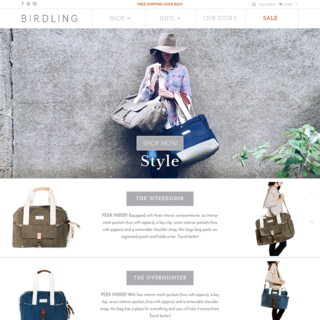 Birdling Bags Home Page