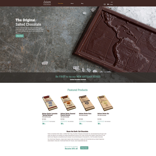 Salazon Chocolate Company Homepage