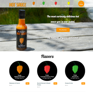 DrStadnyks.com sells a delicious line of homemade, organic hot sauce. Modern look, large images.