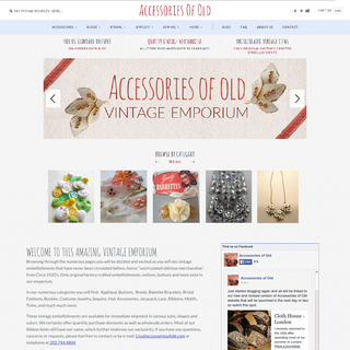 AccessoriesOfOld.com is a third-generation vintage emporium selling embellishments from the 20s.