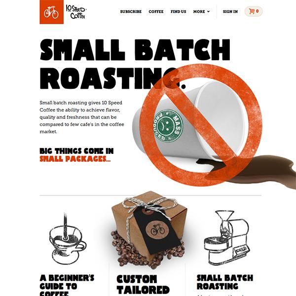 Small batch coffee roaster in Oregon.