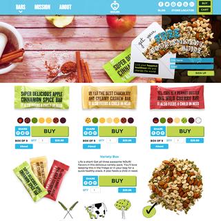 Red Tiki - Ecommerce Designer / Developer / Photographer - Nouri Bars - delicious & nutritious!