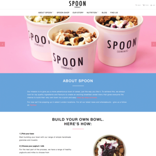 www.spooncereals.co.uk - Store setup and customisation