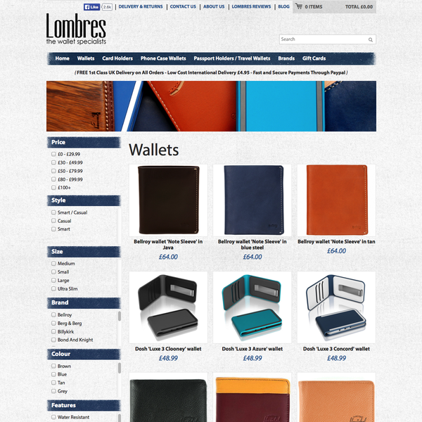 lombres.com - Various enhancements including bespoke faceted navigation with lazy load