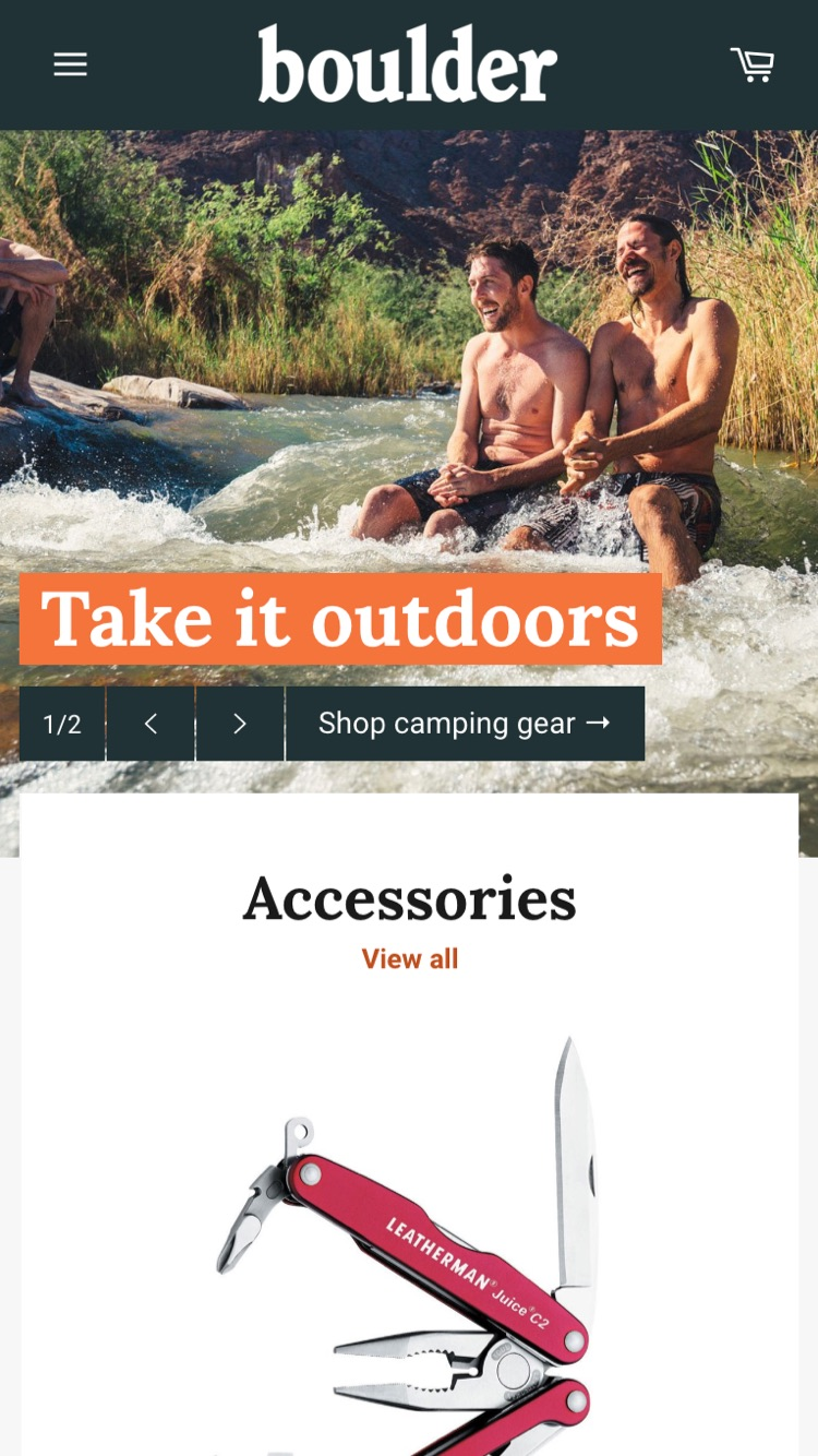 Mobile preview for Outdoors