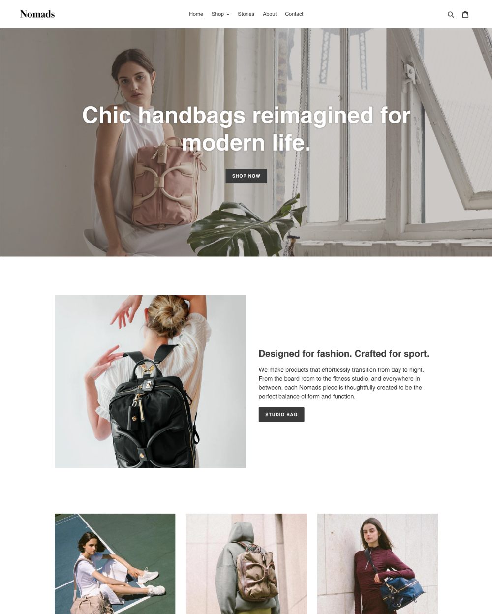default theme debut ecommerce website template
