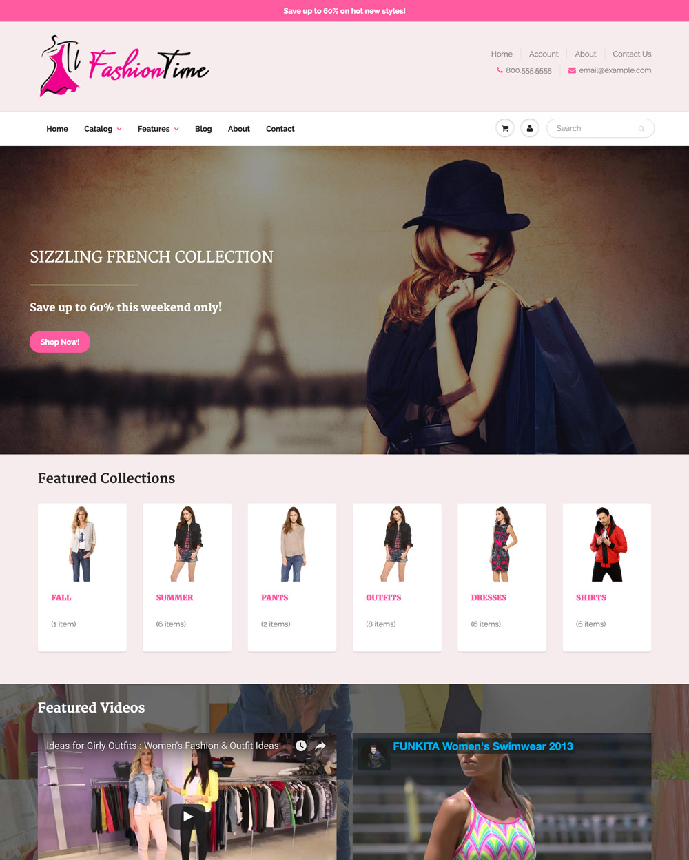 Fashiontime Theme Showtime Ecommerce Website Template