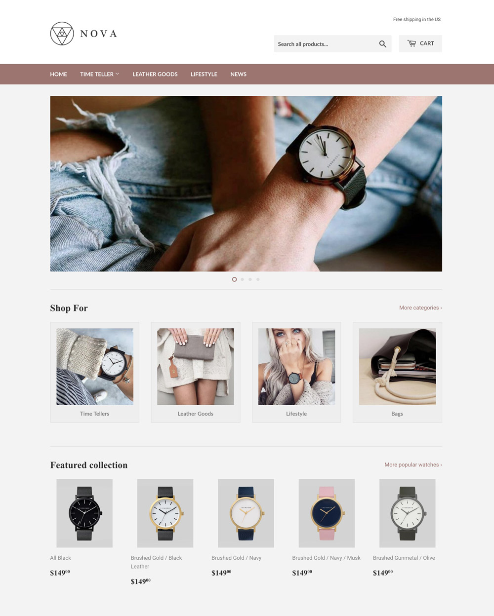 Light Theme Supply Ecommerce Website Template - Shopify design templates