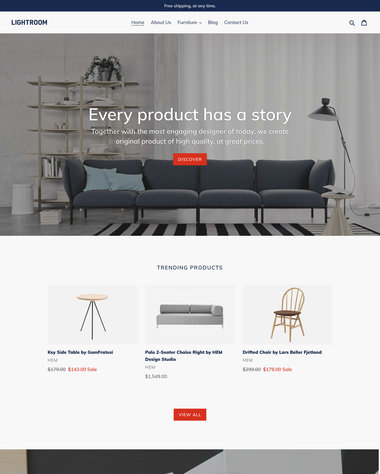 Debut Theme - Light - Ecommerce Website Template