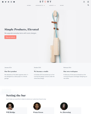 Pipeline Theme - Light - Ecommerce Website Template