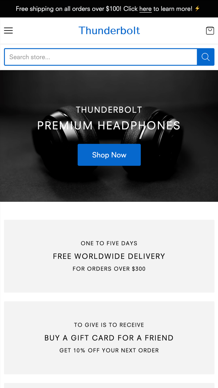 Mobile preview for Thunderbolt