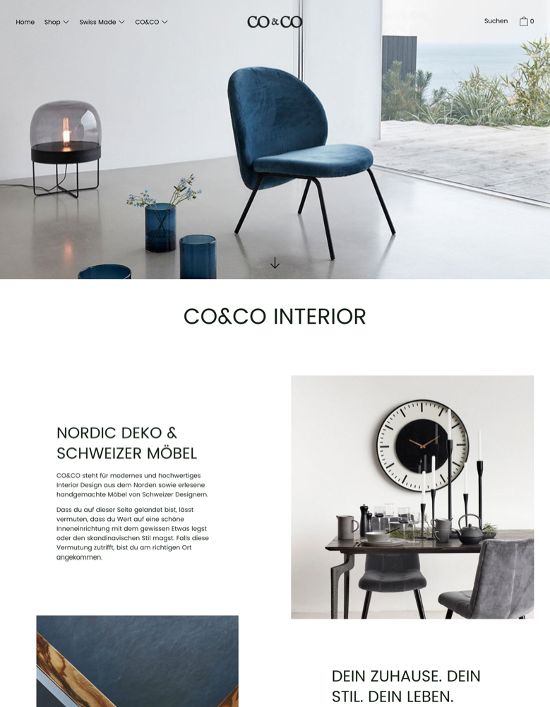 Cascade Theme Classic Ecommerce Website Template