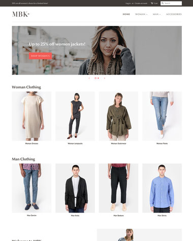 Minimal Theme - Fashion - Ecommerce Website Template
