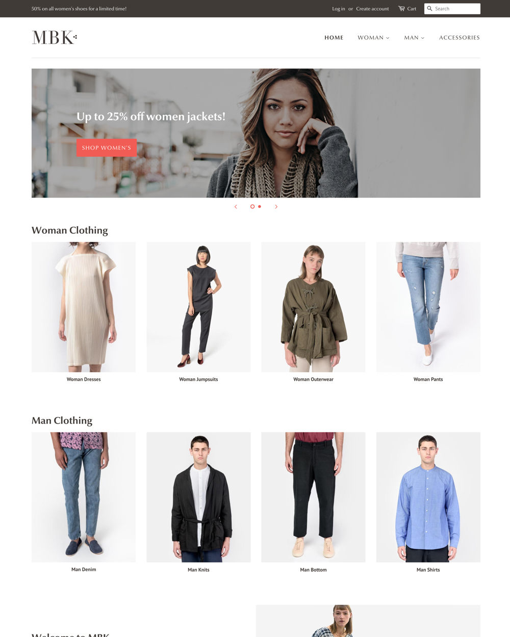 Desktop preview for the Minimal - Fashion theme