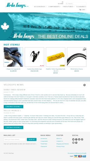 Cycling Components Website Templates Ecommerce Cycling