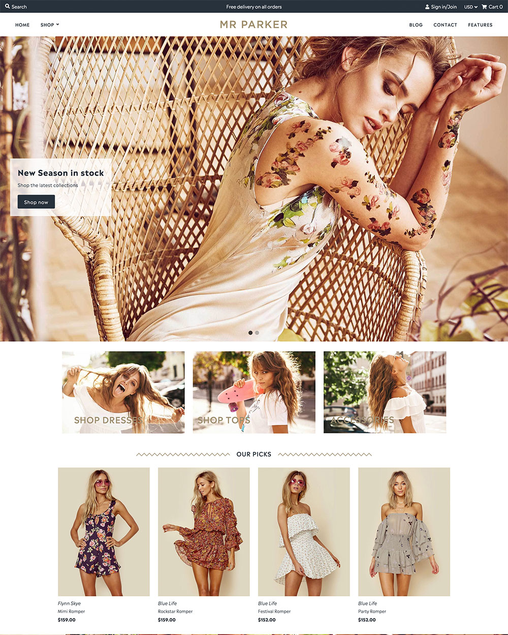 Clothing & Fashion Ecommerce Website Templates - Free and Premium ...