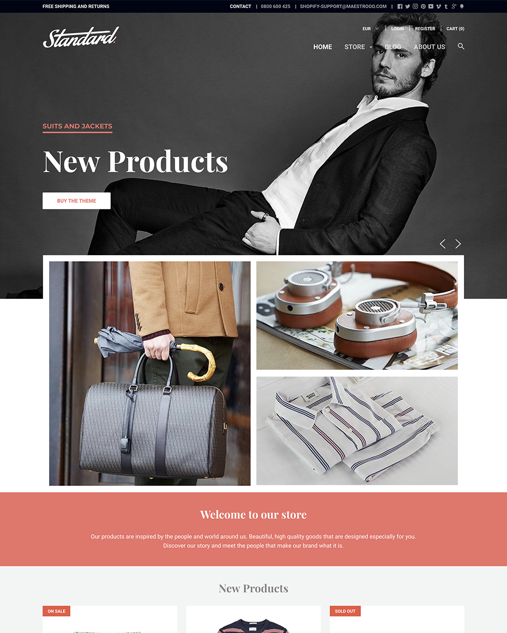 Standard Theme Focal Ecommerce Website Template - Shopify design templates
