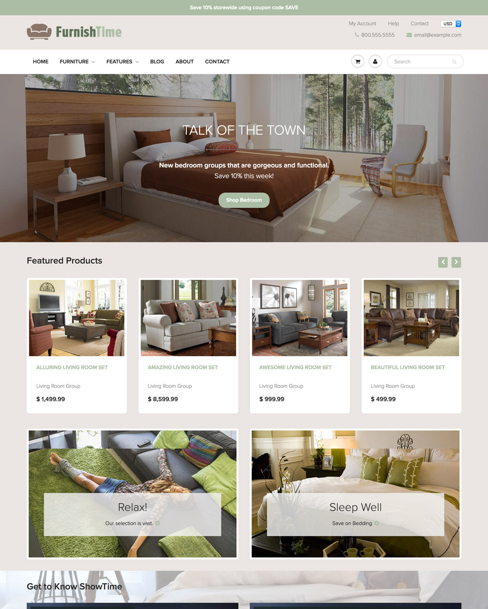 Interior Design Furniture Websites With Pics And Prices ~ Cooktime theme showtime ecommerce website template