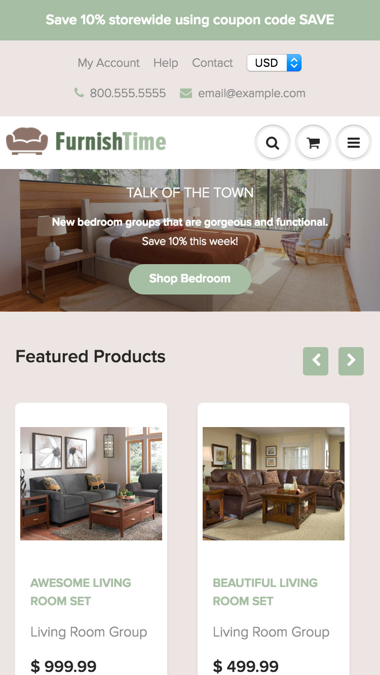 Mobile preview for FurnishTime