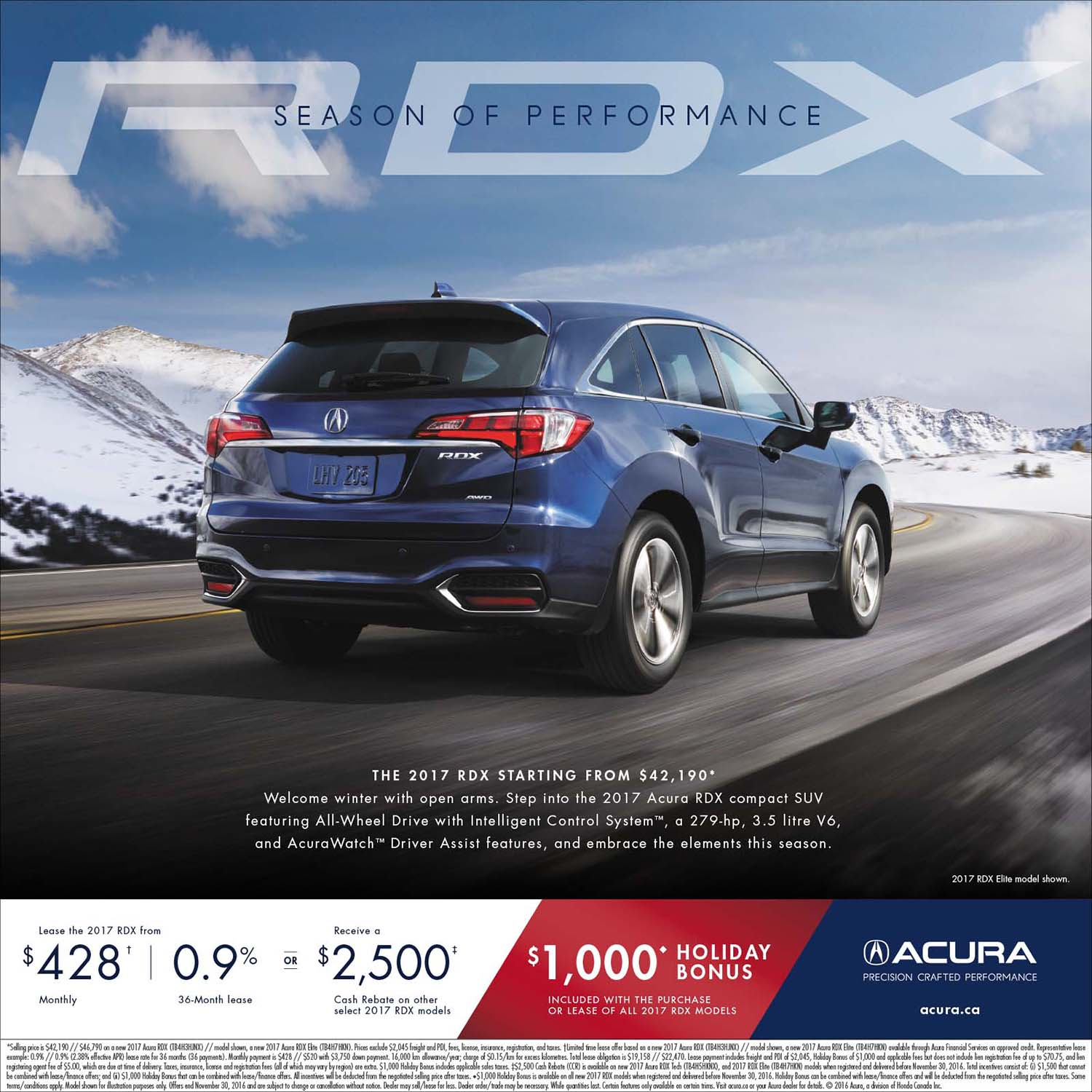 Acura Rdx Lease: ShopLocalNow : Canada : RDX SEASON OF PERFORMANCE