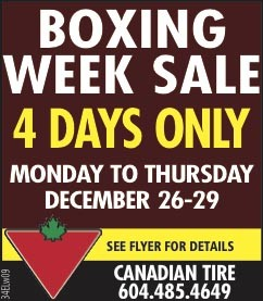 canadian tire boxing day sale