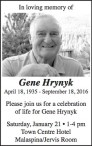 In loving memory of Gene Hrynyk