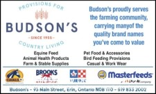 Budson's Proudly Serves the Farming Community