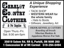 CARALOT COUNTRY CLOTHIER & Pet Supplies