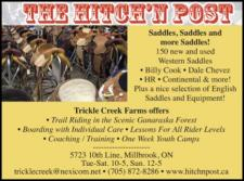 THE HITCH 'N POST  Saddles, Saddles and more Saddles!