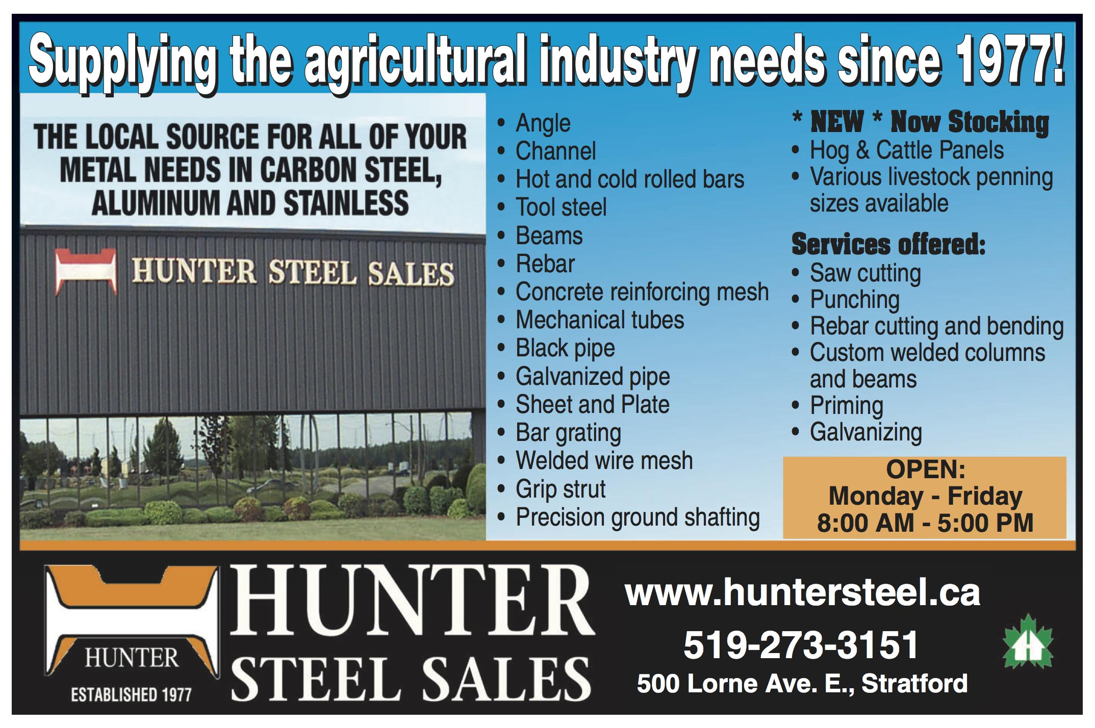 ShopLocalNow : Canada : Services : Featured : Hunter Steel ...