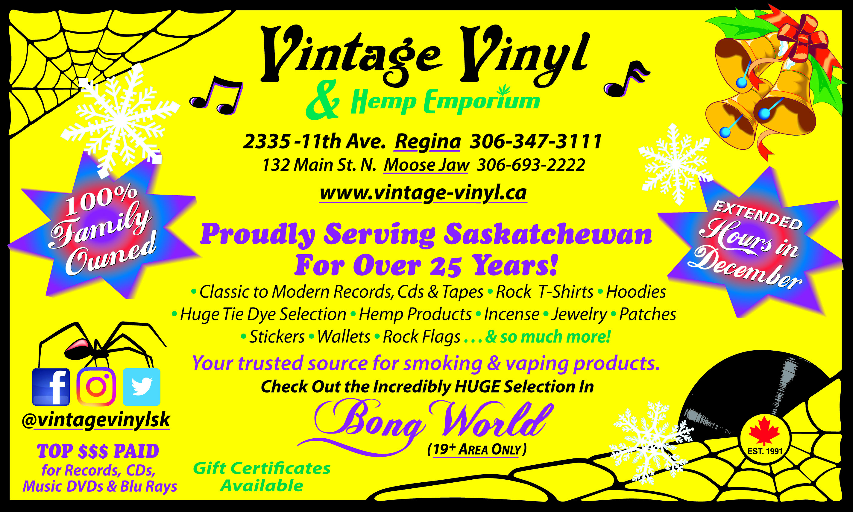 Shoplocalnow Retailers Vintage Vinyl And Hemp