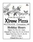 Season's Greetings from Xtreme Pizza