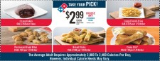 CHOOSE ANY 2 OR MORE ITEMS at Domino's Pizza